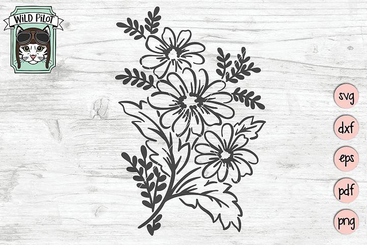 Flowers SVG, Floral SVG, Flowers cut file, Bouquet
