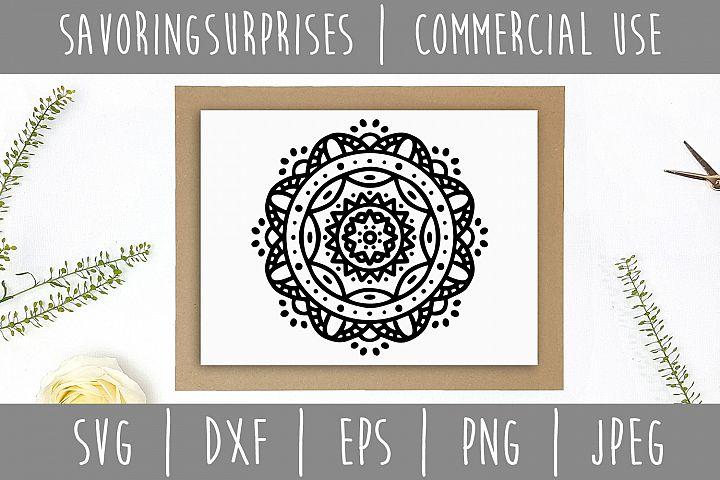Mandala SVG, DXF, EPS, PNG, JPEG example 2