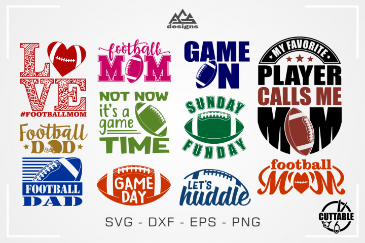 Football Mom American Football Quotes Svg Design