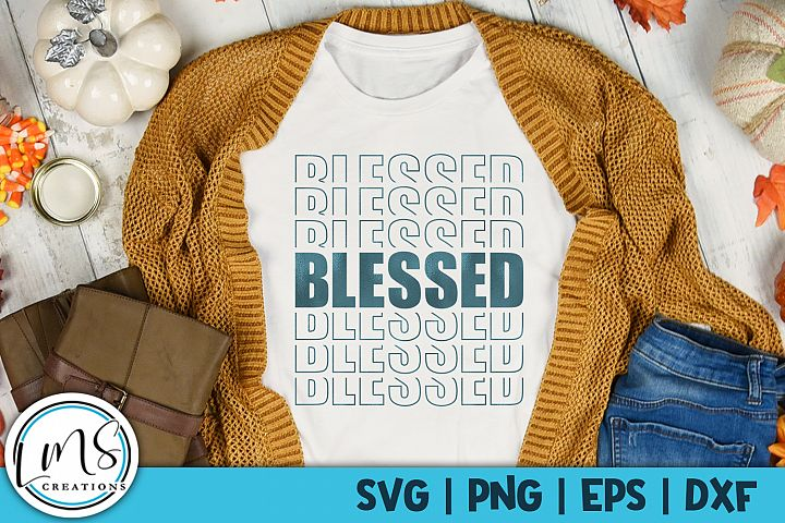 Blessed - Mirror SVG, PNG, EPS, DXF