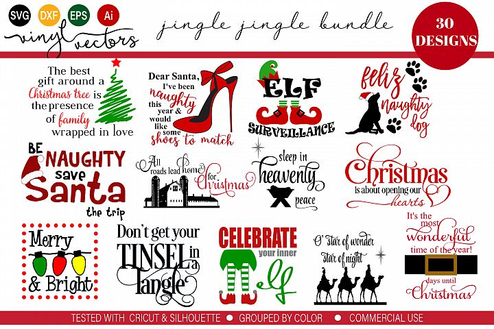Jingle Jingle Bundle of 30 SVG DXF Cut Files