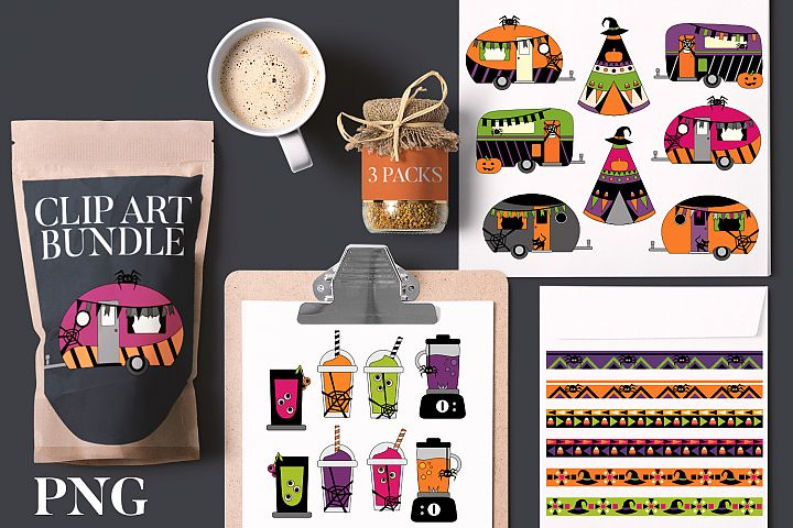 Halloween clip art bundle - Caravan Drinks Party
