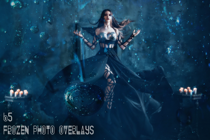 65 Frozen Photo Overlays