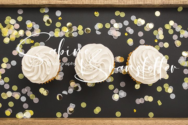 Styled Stock Photography Three Cupcakes Mockup