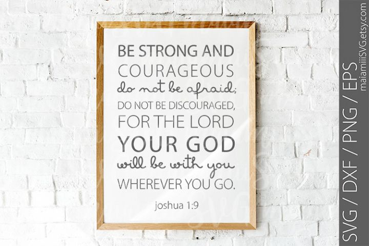 SVG Files, Be Strong And Courageous, Joshua 19
