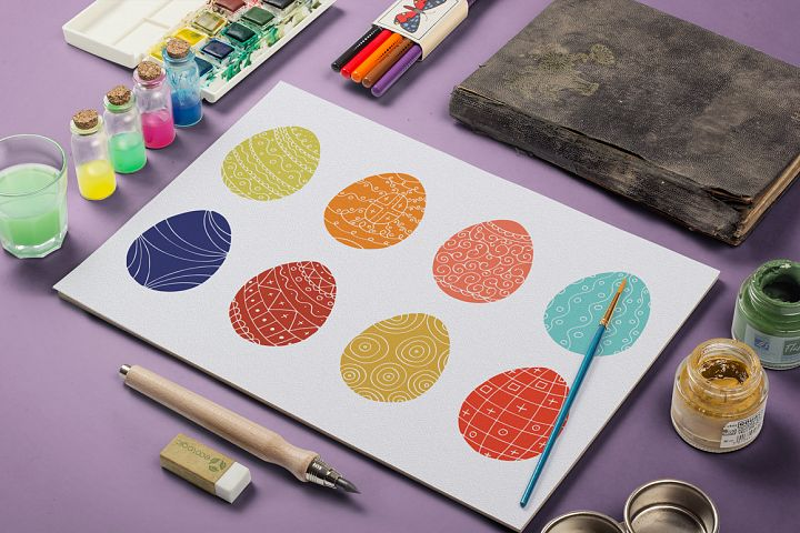 Color collection of Easter eggs. - Free Design of The Week Font