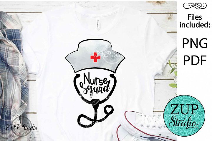Nurse squad buffalo plaid PNG Design Sublimation design 337