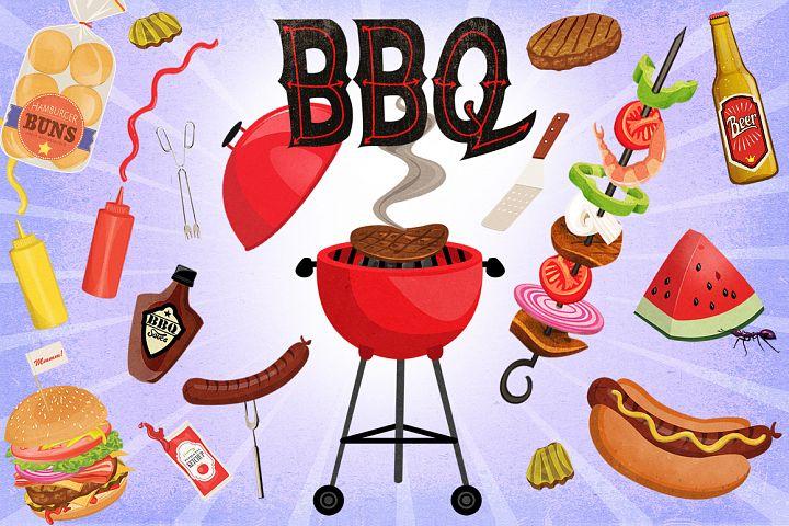 BBQ Cookout Clip Art Graphics