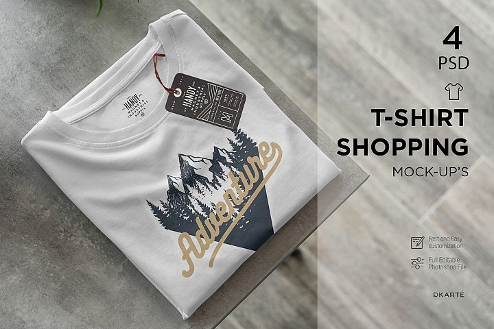 T-Shirt Shopping Mock-Ups
