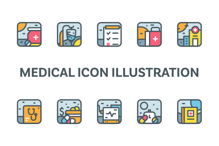 Medical Icon Illustration Set