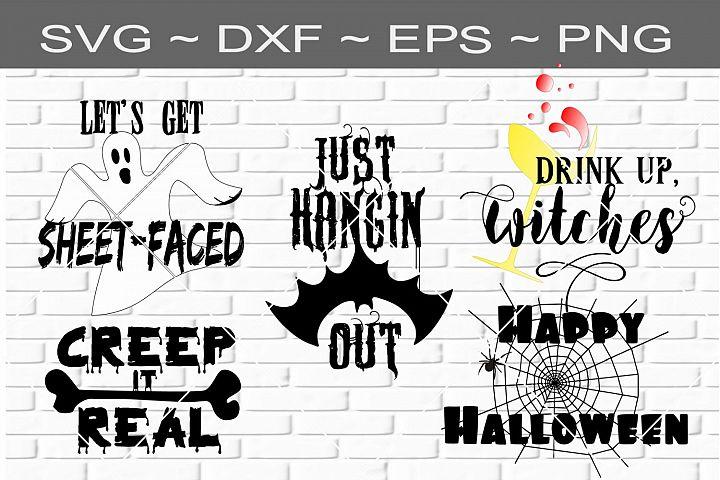 Halloween Bundle 1 Cutting File SVG DXF EPS
