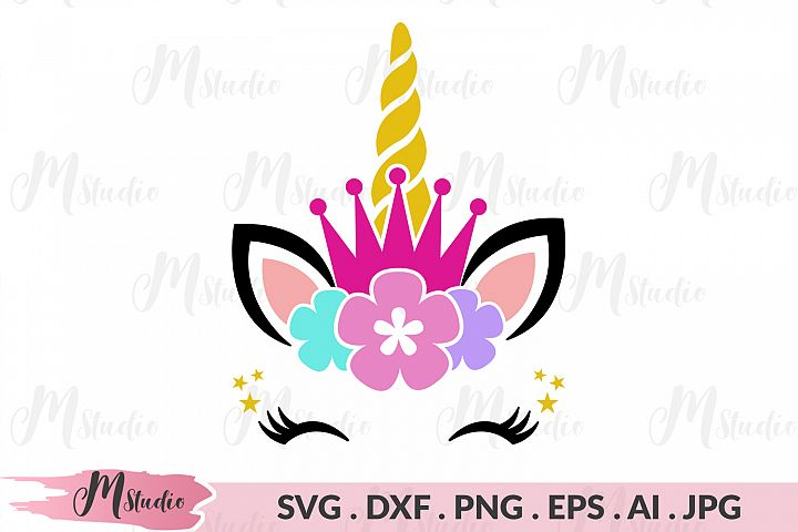 Unicorn crown svg