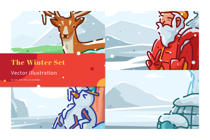 The Winter Illustration Set