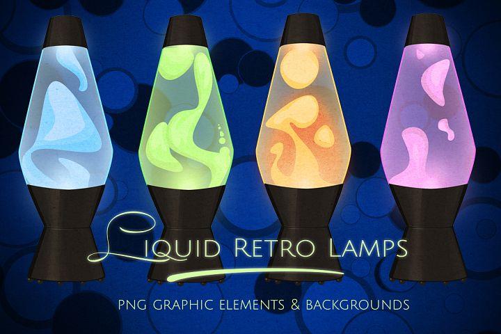 Lava Liquid Neon Lamps Graphics