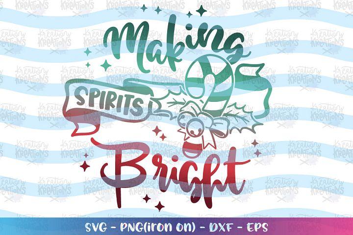 Christmas svg Making Spirits Bright svg Candy Cane design