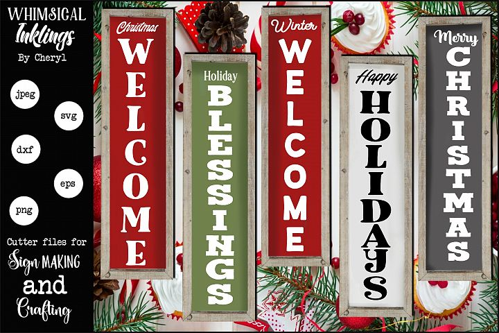Holiday Verticals SVG Set