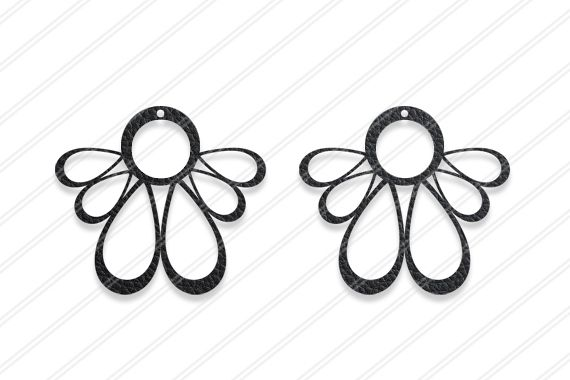 Floral earrings svg , Jewelry svg, leather jewelry