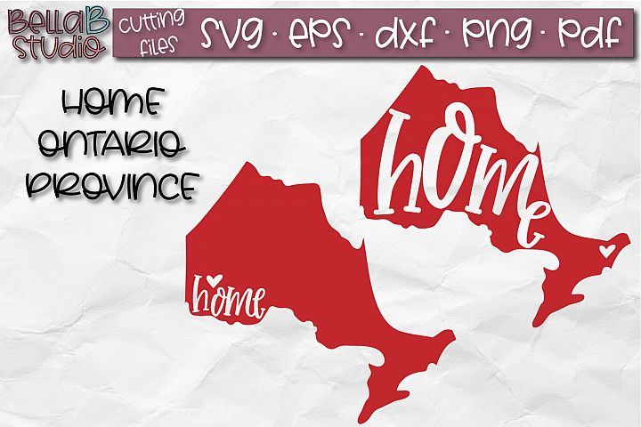 Ontario Home Province SVG, Canada SVG, Canadian SVG File