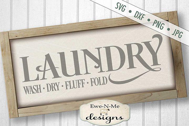 Laundry Wash Dry Fluff Fold SVG DXF Cut File