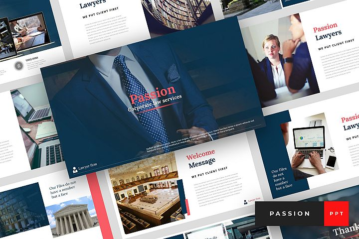 Passion - Lawyer PowerPoint Template