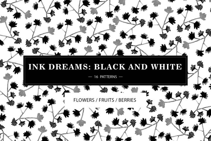 INK DREAMS BLACK & WHITE PATTERNS