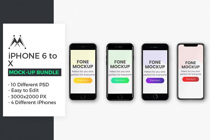 iPhone Mockup Bundle