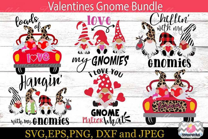Valentine Gnome Bundle, 3 Gnomes Holding Hearts
