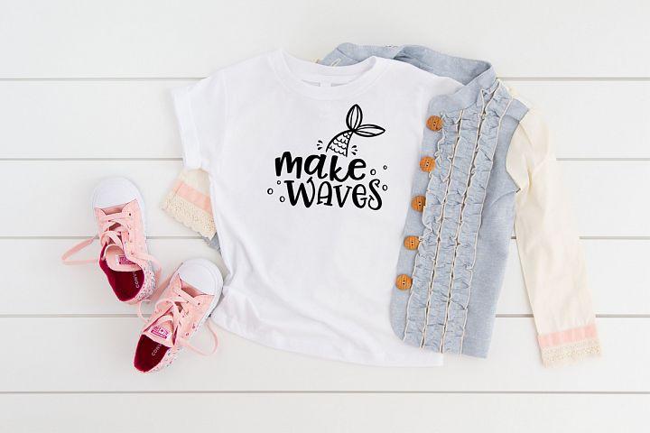 Makes Waves Mermaid Cut File
