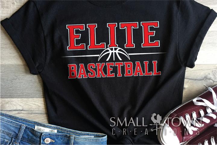 Elite, Basketball, Sport, Team, Logo, PRINT, CUT, DESIGN