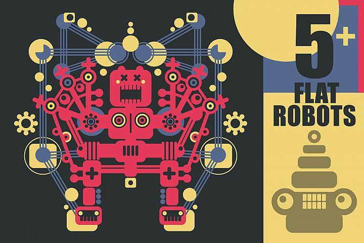 Set of 5 robots