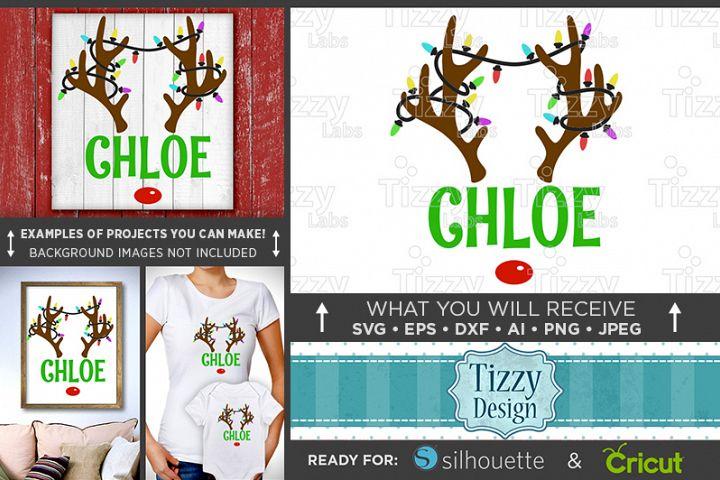 Christmas Reindeer Antlers SVG - Girl Reindeer SVG - 082