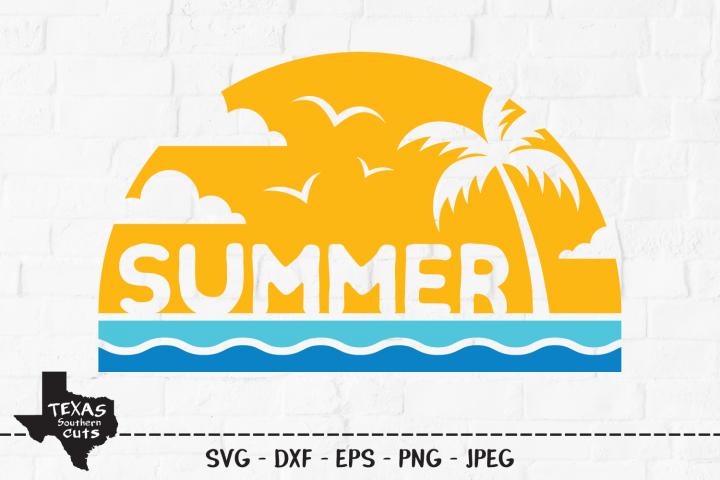 Summer SVG, Cut File, Summer Vacation Shirt Design, Waves