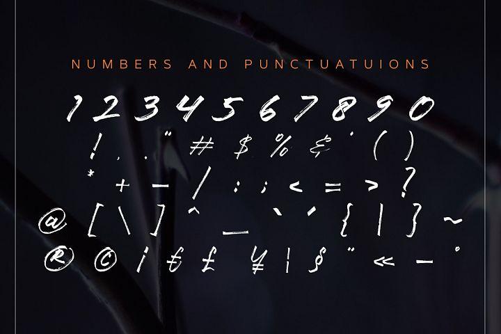 Ancient Handbrush Typeface example 7