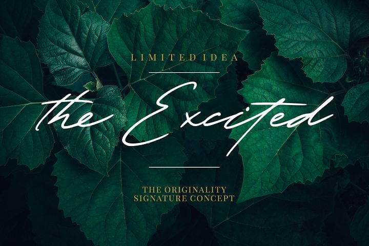 The Excited - Signature Font
