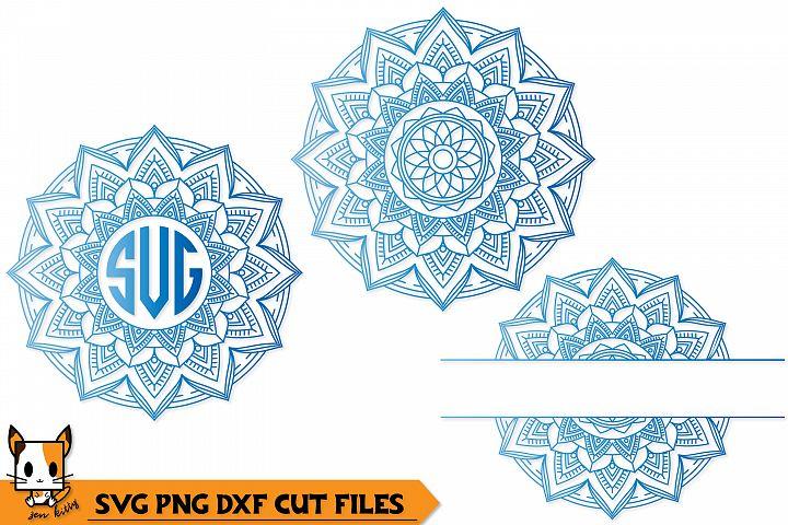 Mandala Monogram Set of 3 - SVG PNG DXF Cut Files