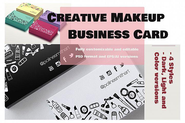 Creative Makeup Business Card