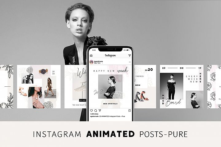 ANIMATED Instagram Posts Pure