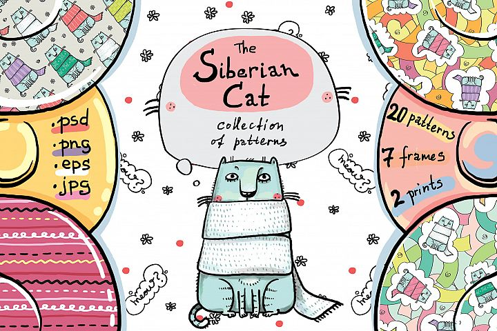 The Siberian Cat patterns