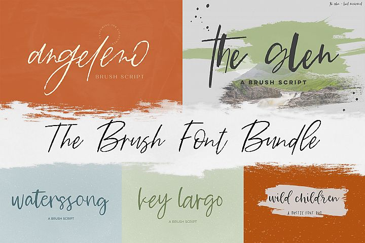 The Brush Font Bundle