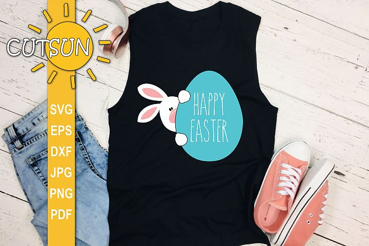 Easter Bunny SVG | Bunny Peekaboo SVG