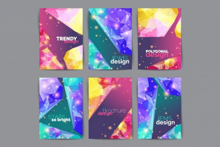 Abstract fashion posters, business flyers set. Vector illustration