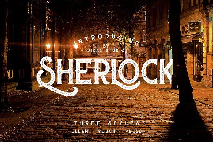 Sherlock Typeface - 3 Font Styles