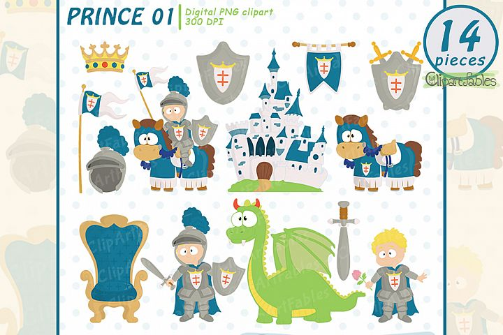 Cute KNIGHT clipart, Fairy tale clip art, PRINCE clip art