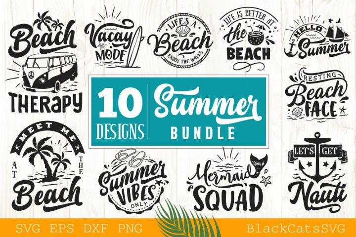Summer SVG bundle 10 designs Beach SVG bundle