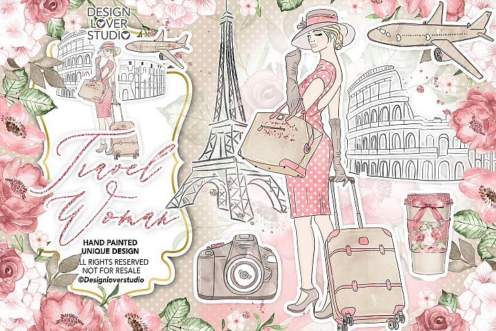 Travel woman design
