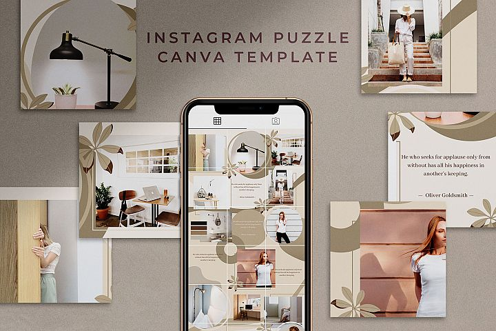 Instagram Puzzle Canva Template| Mink