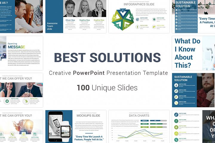 Best Solutions PowerPoint Template