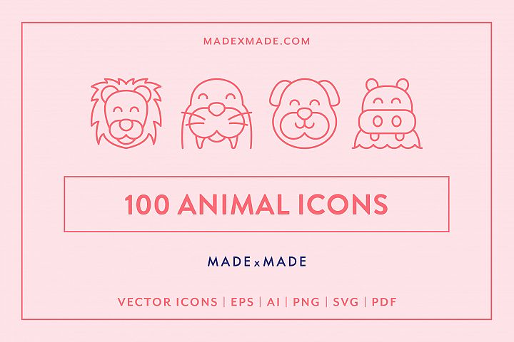 Line Icons - Animals