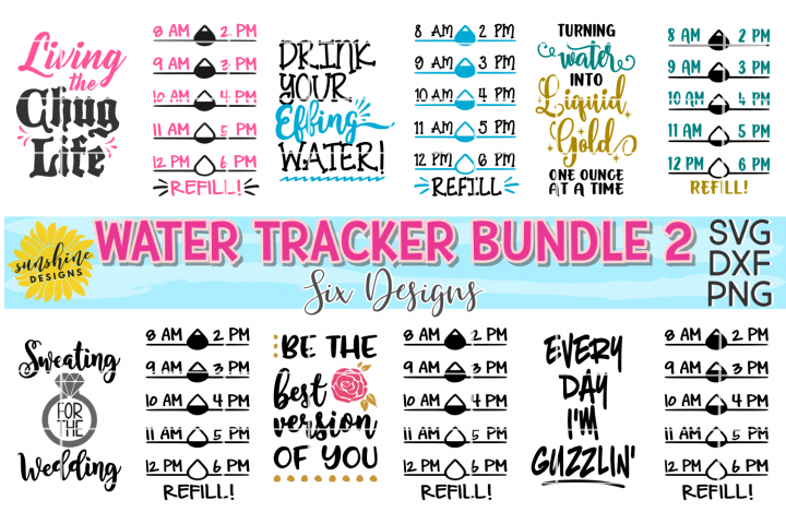 WATER TRACKER BUNDLE TWO SVG DXF PNG | WATER MEASUREMENTS