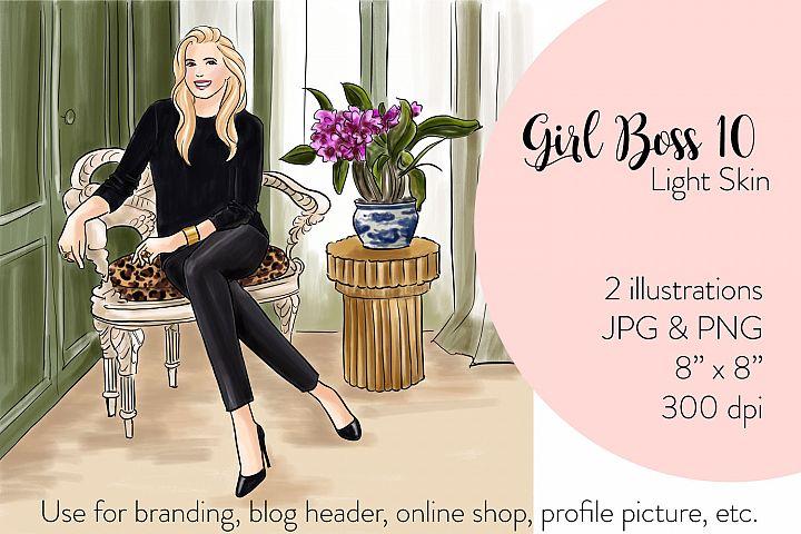 Fashion illustration - Girl boss 10 - Light Skin